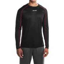 Spalding Turbo High-Performance T-Shirt - Long Sleeve (For Men) in Black/Red Coast - Closeouts