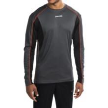 Spalding Turbo High-Performance T-Shirt - Long Sleeve (For Men) in Gravel/Black/Orange Sunset - Closeouts