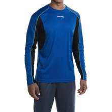 Spalding Turbo High-Performance T-Shirt - Long Sleeve (For Men) in Royal Payne/Black/Electric Green - Closeouts