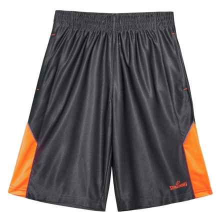 Spalding Turnover Basketball Shorts (For Big Boys) in Gravel - Closeouts