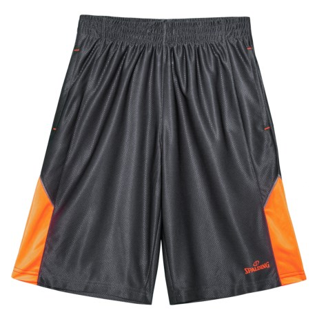 Spalding Turnover Basketball Shorts (For Big Boys) in Gravel