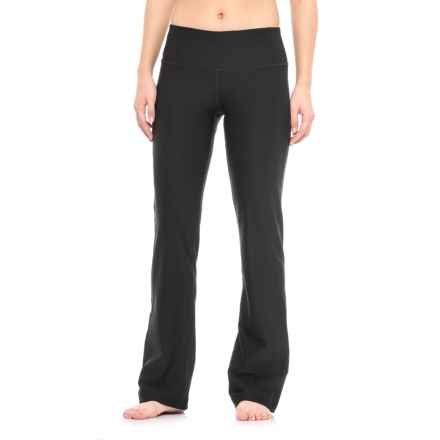 Spalding Wide-Waistband Bootcut Pants (For Women) in Black - Closeouts