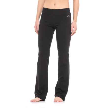 Spalding Yoga Pants - Straight Leg (For Women) in Black - Closeouts