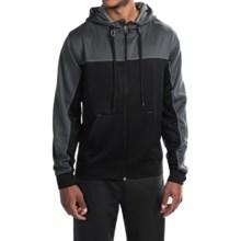 Spalding Zone High-Performance Fleece Hoodie - Full Zip (For Men) in Black/Gravel/Concrete - Closeouts