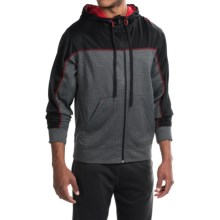 Spalding Zone High-Performance Fleece Hoodie - Full Zip (For Men) in Black Heather/Black/Red Coast - Closeouts