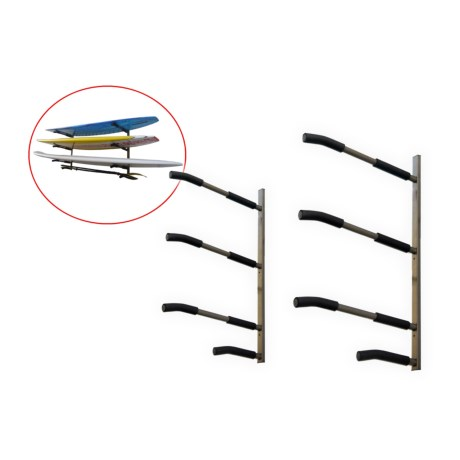 SpareHand Systems 3-Tier SUP and Surfboard Wall Mount Rack in See Photo