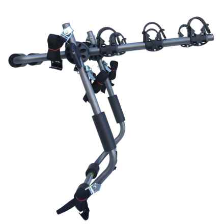 SpareHand Systems Closeouts. ' 3-bike trunk rack transports up to three bicycles with a weight limit of 105 pounds and fully adjustable cradle arms to accommodate nearly all bike shapes and sizes. in See Photo - Closeouts