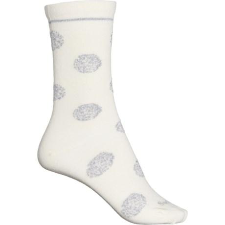 Sparkle Spray Essential Comfort Socks - Merino Wool, Crew (For Women) - NATURAL (S/M ) -  Sockwell