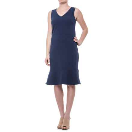 Specially made A-Line Dress - Sleeveless (For Women) in Navy - 2nds