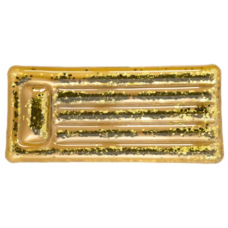 Specially made Airmat Glitter Pool Float in Gold