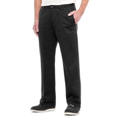 Specially made American Chino Wrinkle-Resistant Pants - Cotton Rich (For Men) in Black
