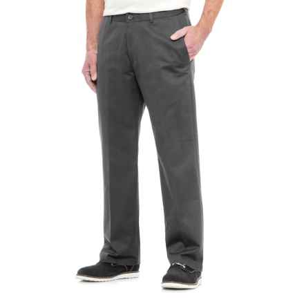Specially made American Chino Wrinkle-Resistant Pants - Cotton Rich (For Men) in Grey - Closeouts