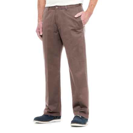 Specially made American Chino Wrinkle-Resistant Pants - Cotton Rich (For Men) in Taupe - Closeouts