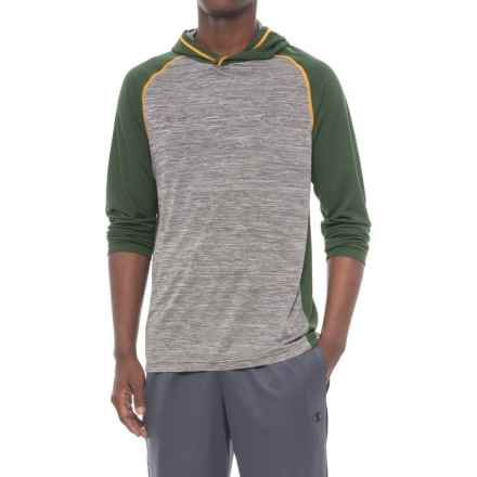 Specially made Athletic Hoodie Shirt - Long Sleeve (For Men) in Green - 2nds