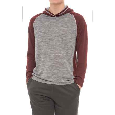 Specially made Athletic Hoodie Shirt - Long Sleeve (For Men) in Maroon - 2nds