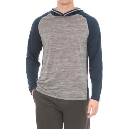Specially made Athletic Hoodie Shirt - Long Sleeve (For Men) in Navy - 2nds