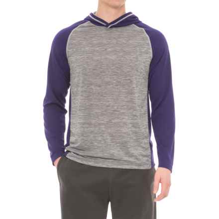 Specially made Athletic Hoodie Shirt - Long Sleeve (For Men) in Plum - 2nds
