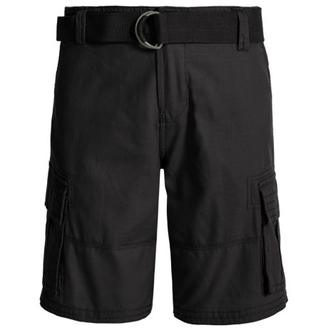 Specially made Belted Cargo Shorts (For Little Boys) in Caviar