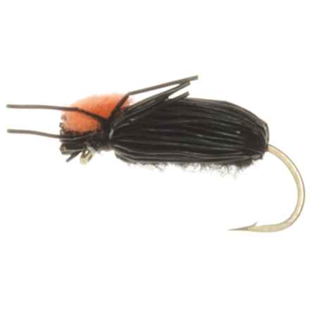 Specially made Black Crow Beetle Dry Fly - Red Indicator, Dozen in Natural - Closeouts