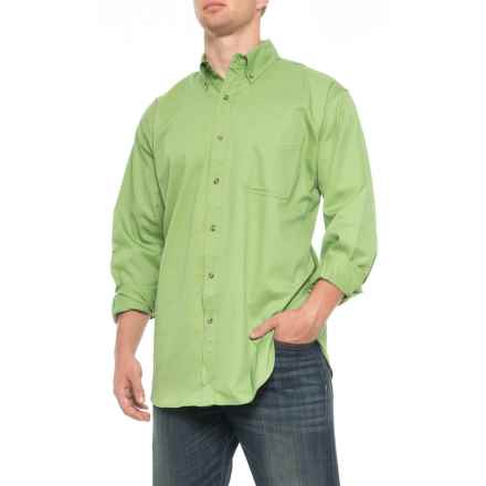 Specially made Button Down Twill Shirt - Long Sleeve (For Men) in Apple - Closeouts