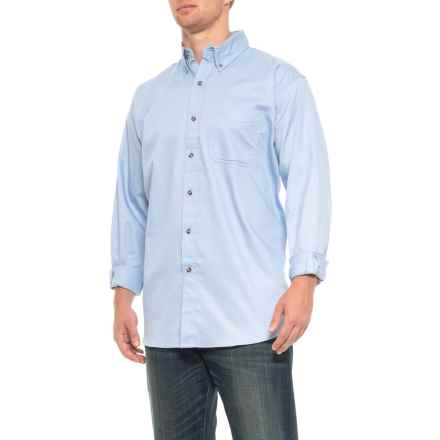 Specially made Button Down Twill Shirt - Long Sleeve (For Men) in Light Blue - Closeouts