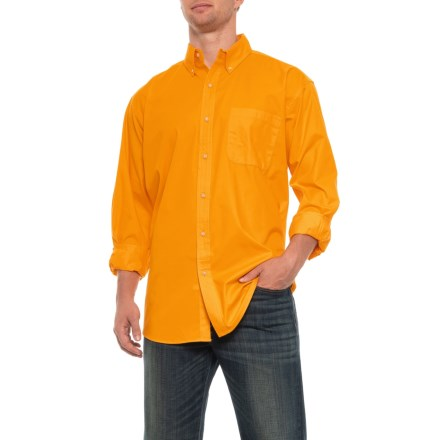 1a41095c9307 Specially made Button Down Twill Shirt - Long Sleeve (For Men) in Yellow -