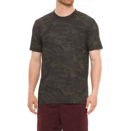 Specially made Camo Crew Neck T-Shirt - Short Sleeve (For Men) in Dark Brown - 2nds