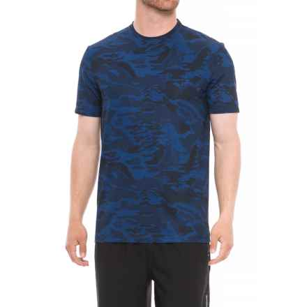 Specially made Camo Crew Neck T-Shirt - Short Sleeve (For Men) in Navy - 2nds
