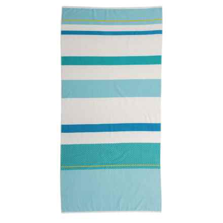 """Specially made Caymen Stripe Beach Towel - 36x70"""" in Blue - Closeouts"""