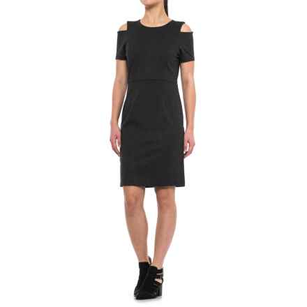 Specially made Cold-Shoulder Dress - Short Sleeve (For Women) in Charcoal - 2nds