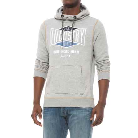 Specially made Cotton-Blend Hoodie (For Men) in Grey Heather Industry - Closeouts