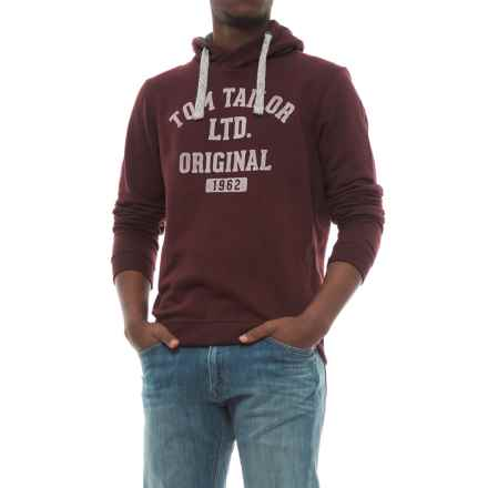 Specially made Cotton-Blend Hoodie (For Men) in Maroon Tom Taylor - Closeouts