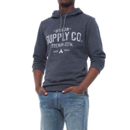 Specially made Cotton-Blend Hoodie (For Men) in Navy Melange Union Supply - Closeouts