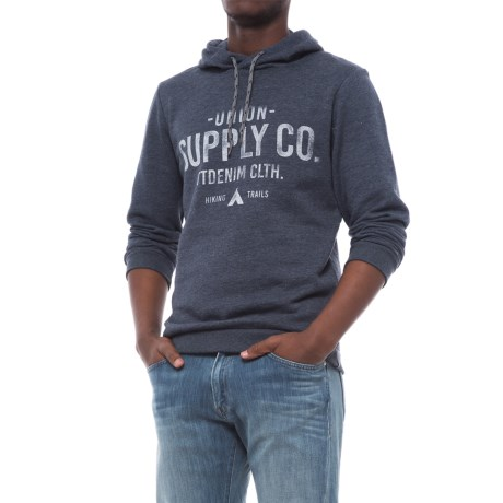 Specially made Cotton-Blend Hoodie (For Men) in Navy Melange Union Supply