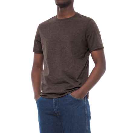 Specially made Cotton-Blend T-Shirt - Crew Neck, Short Sleeve (For Men) in Charcoal Heather - 2nds