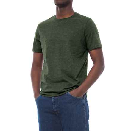 Specially made Cotton-Blend T-Shirt - Crew Neck, Short Sleeve (For Men) in Forest Heather - 2nds