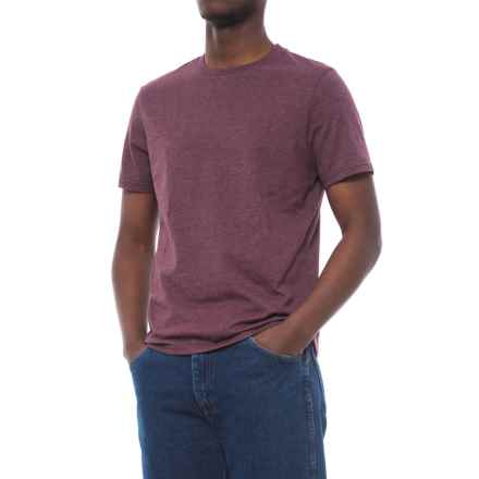 Specially made Cotton-Blend T-Shirt - Crew Neck, Short Sleeve (For Men) in Maroon Heather - 2nds