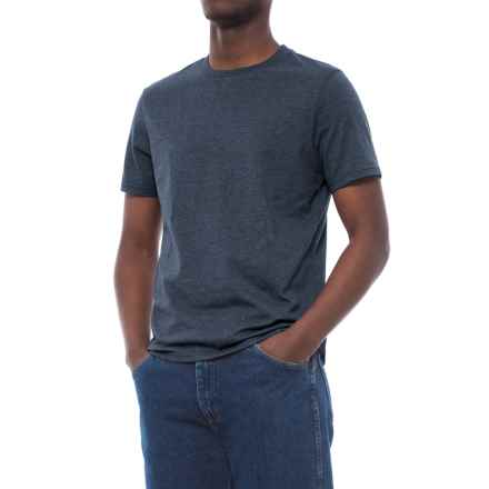 Specially made Cotton-Blend T-Shirt - Crew Neck, Short Sleeve (For Men) in Navy Heather - 2nds