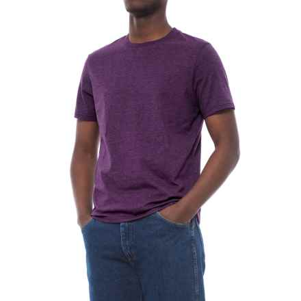 Specially made Cotton-Blend T-Shirt - Crew Neck, Short Sleeve (For Men) in Purple Heather - 2nds