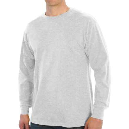 Specially made Cotton T-Shirt - Long Sleeve (For Tall Men) in Light Grey Heather - Closeouts