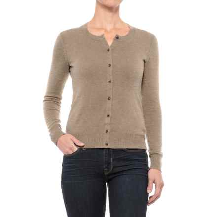 Specially made Crew Neck Cardigan Sweater (For Women) in Taupe - 2nds