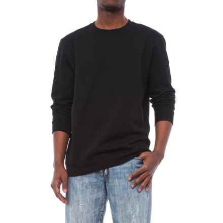 Specially made Crew Neck Sweatshirt (For Men) in Black - Closeouts