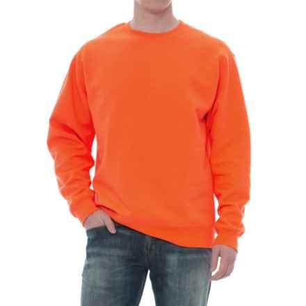 Specially made Crew Neck Sweatshirt (For Men) in Fluorescent Orange - Closeouts