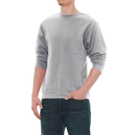 Specially made Crew Neck Sweatshirt (For Men) in Grey Heather - Closeouts