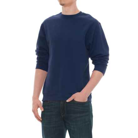 Specially made Crew Neck Sweatshirt (For Men) in Navy - Closeouts
