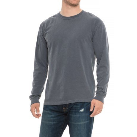 Specially made Crew Neck T-Shirt - Long Sleeve (For Men) in Denim