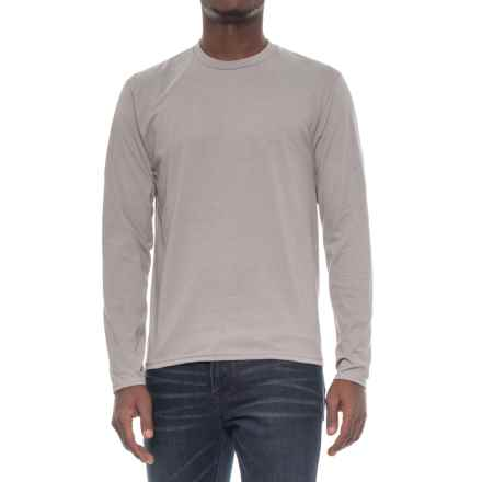 Specially made Crew Neck T-Shirt - Long Sleeve (For Men) in Grey - 2nds