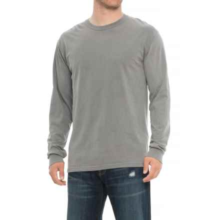 Specially made Crew Neck T-Shirt - Long Sleeve (For Men) in Grey - Closeouts