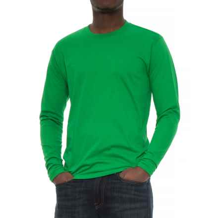 Specially made Crew Neck T-Shirt - Long Sleeve (For Men) in Medium Green - 2nds