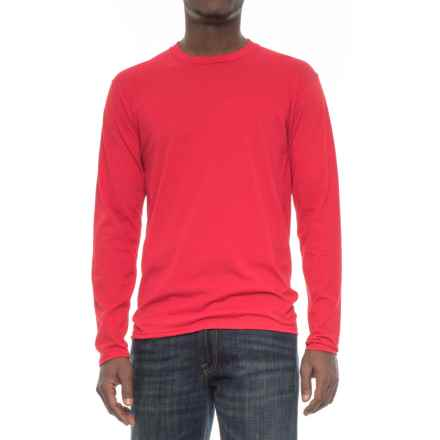 Specially made Crew Neck T-Shirt - Long Sleeve (For Men) in Red - 2nds